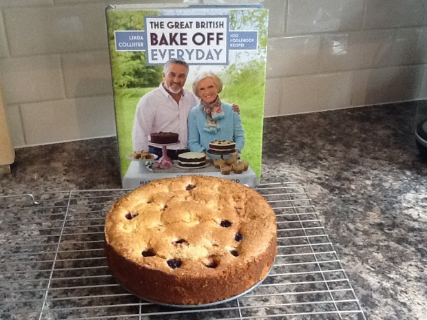 GBBO book and my version of the Blackberry Buttermilk Sponge