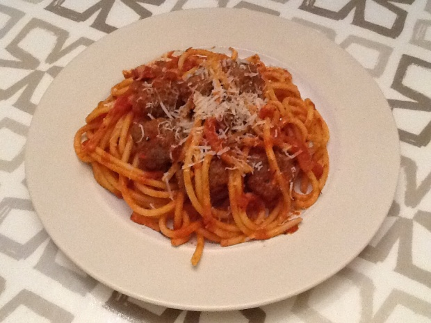 Lovely Meatballs and Pasta