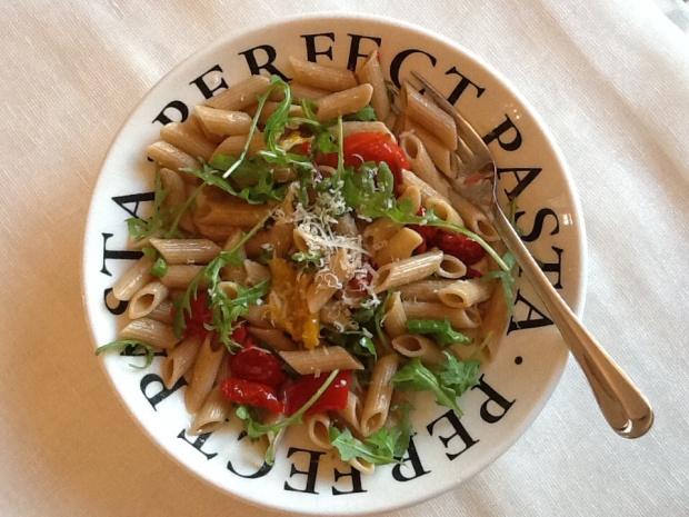 Tasty bowl of pasta