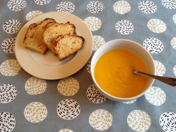 Warming soup and soda bread