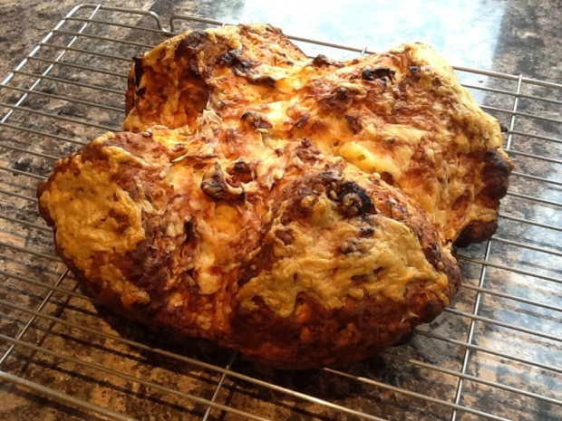 Freshly baked Cheese and Sun Dried Tomato Soda Bread