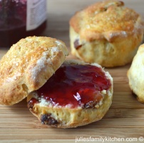 Cherry and date scones