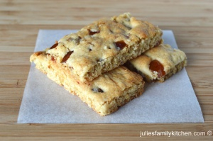 Date and cherry butter bars