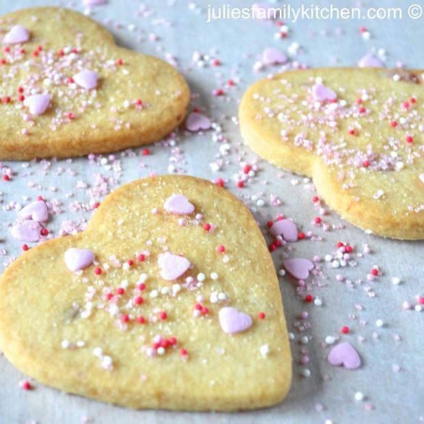 Cherry Shortbread Hearts
