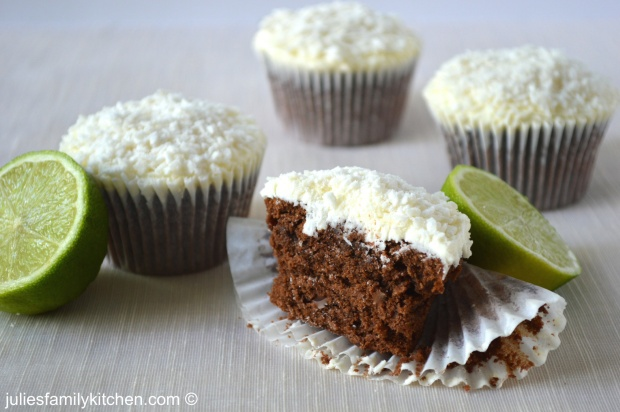 Chocolate lime cupcakes