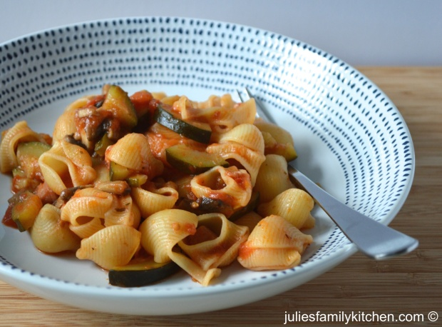 Pipe Rigate Pasta with Courgette, Mushroom and Pancetta