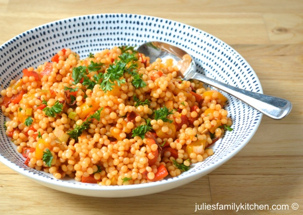 Harissa Spiced Giant Cous Cous