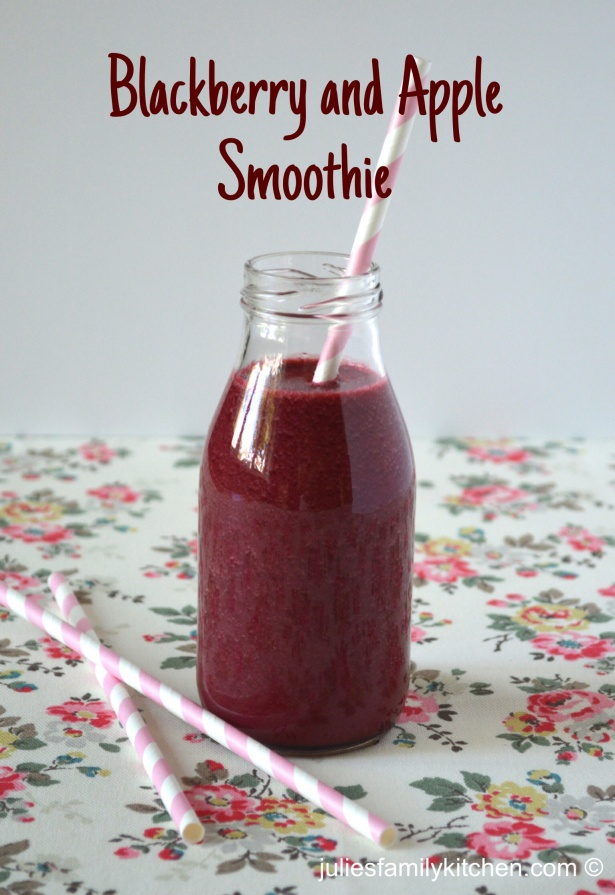 Blackberry and apple smoothie