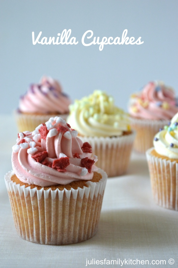 Vanilla cupcakes with Dr Oetker decorations