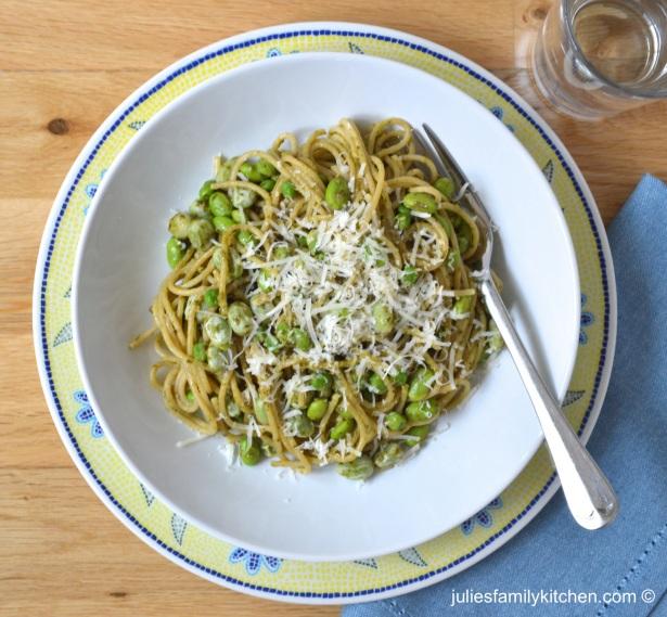 Green Veggie Spelt Spaghetti