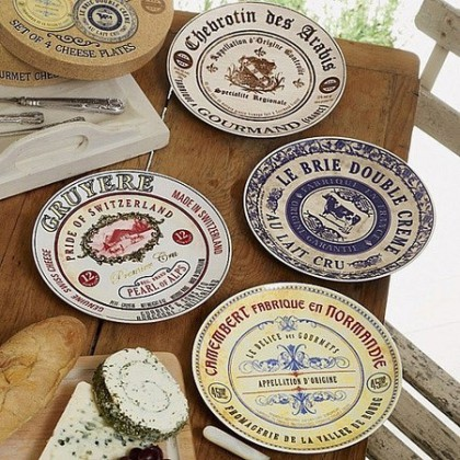 Gourmet Cheese Label Plates