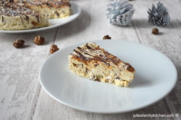 Frozen Chocolate Caramel Cream Meringue Cake