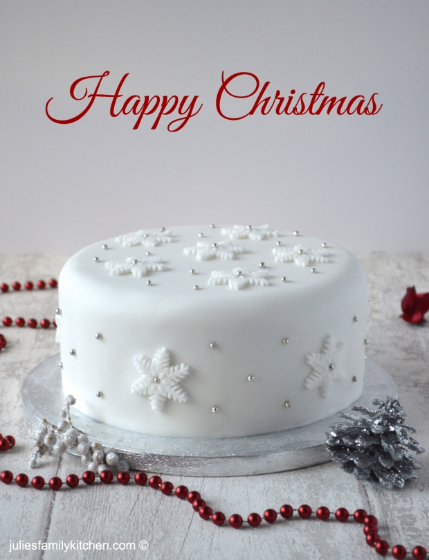 Snowflake Christmas Cake Julie's Family Kitchen