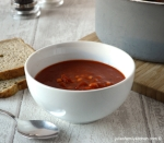 Julie's Family Kitchen Tomato, Bean and Chorizo Soup