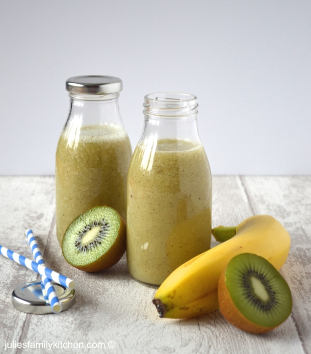 Julie's Family Kitchen Kiwi, Banana and Coconut Smoothie