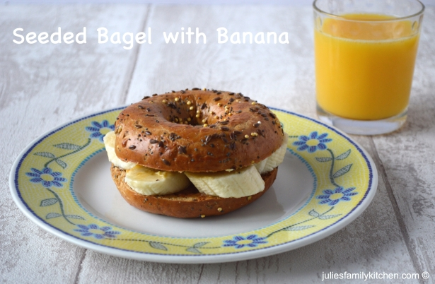 Julie's Family Kitchen Seeded Bagel with Banana