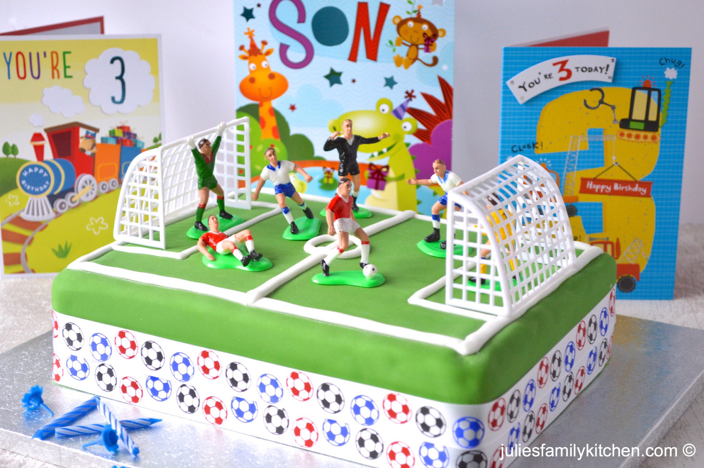 Julies Family Kitchen Football Game Birthday Cake