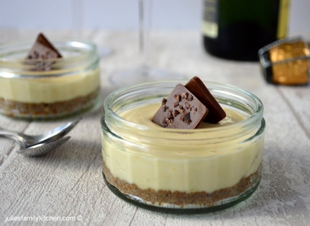 Julie's Family Kitchen Passionfruit Cheesecake Pots