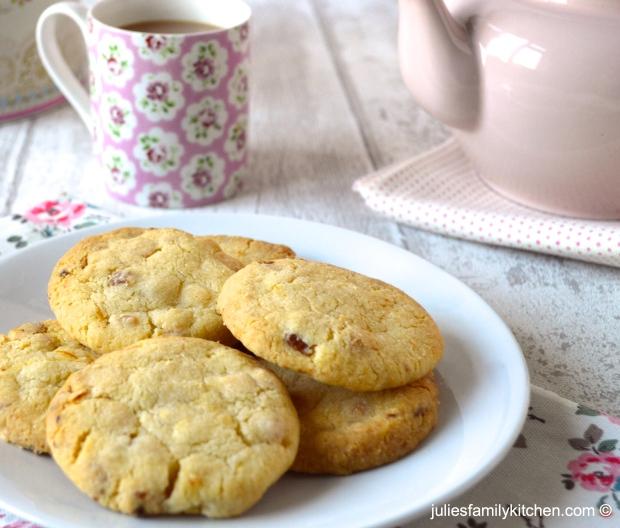 Apricot, Lemon and White Chocolate Cookies