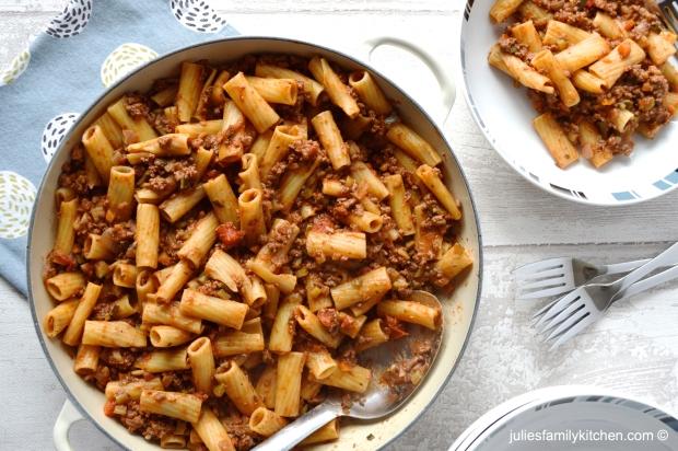 Rigatoni Beef Bolognese