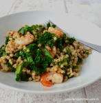 Kale and Prawn Buckwheat Pilaf