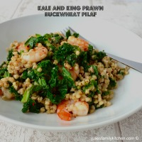 Kale and King Prawn Buckwheat Pilaf