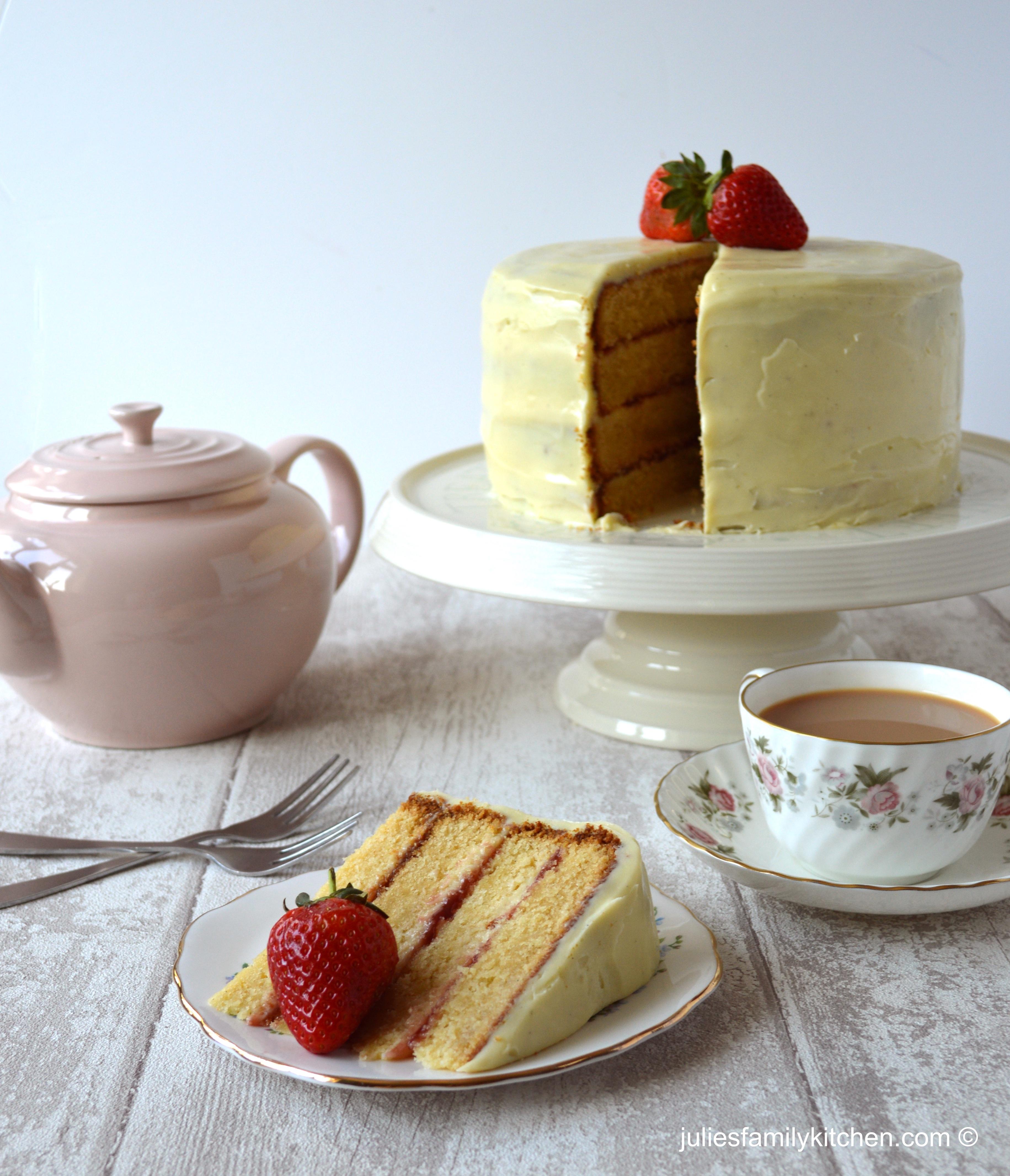 Images Of Chocolate Vanilla Cake : White Chocolate and Vanilla Layer Cake   Julie s Family ...
